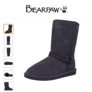 BearPaw Adele Suede Leather Black Boot-Size 8
